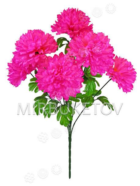 Искусственные цветы Букет Хризантемы VIP, 6 голов, 680 мм