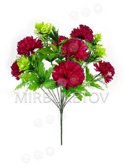 Искусственные цветы Букет Георгины Шарик, 7 голов, 480 мм