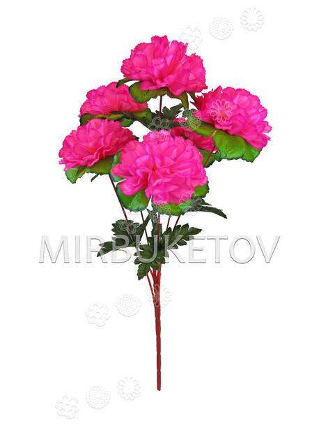 Искусственные цветы Букет Георгины, 6 голов, 580 мм