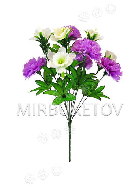 Искусственные цветы Букет Гвоздики и Нарцисса, 11 голов, 480 мм