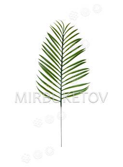 Лист пальмы пластмассовый, зеленый, 510 мм