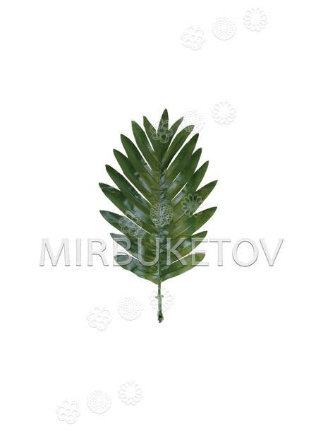 Лист Пальмы перистый текстильный, 290x180 мм