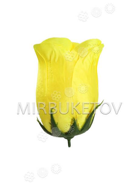 Бутон искусственной Розы, атлас, 130 мм