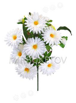Искусственные цветы Букет Ромашки остроконечной, белая, 11 голов, 520 мм