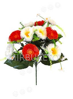 Искусственные цветы Букет Герберы двуцветной, 13 голов, 460 мм