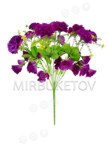 Искусственные цветы Букет Гвоздики, 30 голов, 460 мм