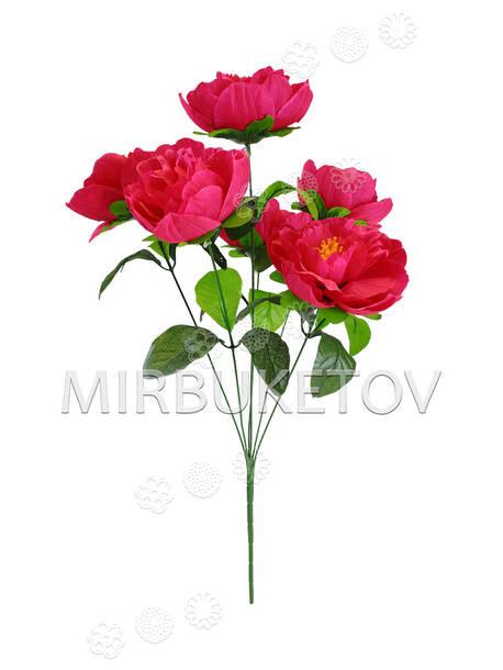 Искусственные цветы Букет Пиона, 6 голов, 540 мм