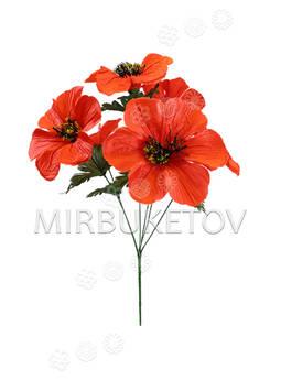 Искусственные цветы Букет Мака, 6 голов, 470 мм
