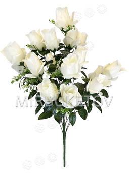 Искусственные цветы Букет Роз, 10 голов, 700 мм
