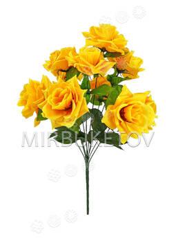 Искусственные цветы Букет Розы, 11 бутонов, 550 мм