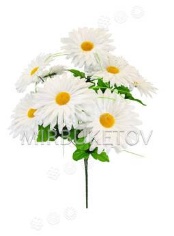 Искусственные цветы Букет белой Ромашки, 9 голов, 520 мм