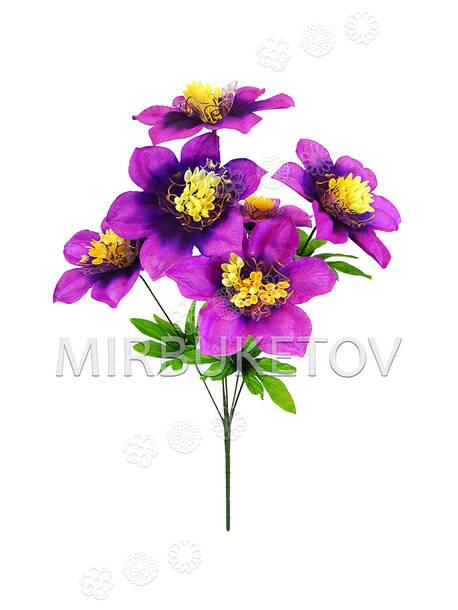 Искусственные цветы Букет Гибискуса, 6 голов, 470 мм