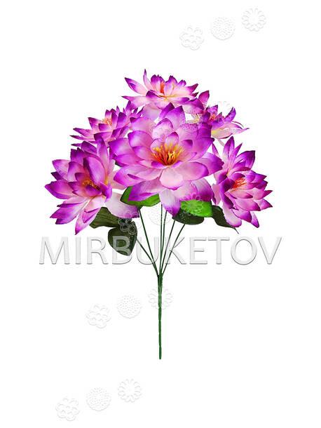 Искусственные цветы Букет Клематиса, 6 голов, 420 мм