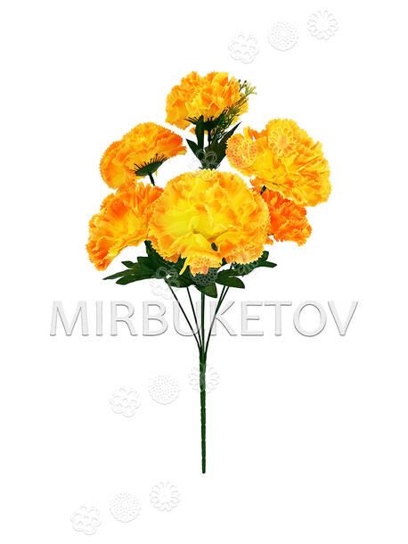 Искусственные цветы Букет Гвоздики, 6 голов, 470 мм