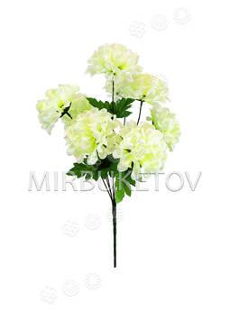 """Искусственные цветы Букет Георгин """"Шарик"""", 8 голов, 470 мм"""