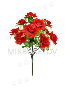 Искусственные цветы Букет Розы, 12 голов, 460 мм