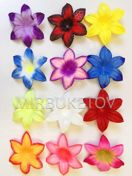 Искусственные Пресс цветы без тычинки Лилия, шелк, 110 мм