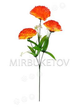 Искусственные цветы Букет Гвоздики, 3 головки, 660 мм