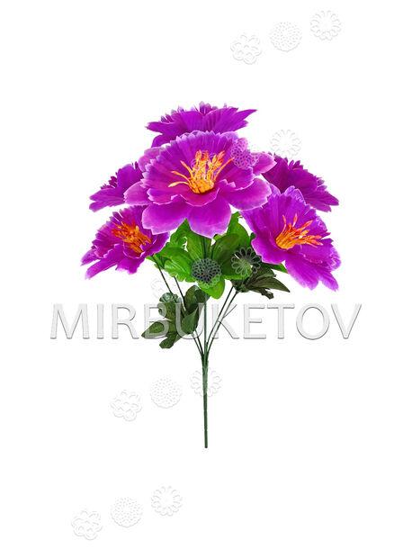Искусственные цветы Букет Гибискуса, 6 голов, 390 мм