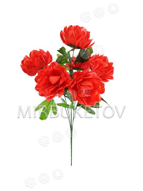Искусственные цветы Букет Пионов, 6 голов, 480 мм