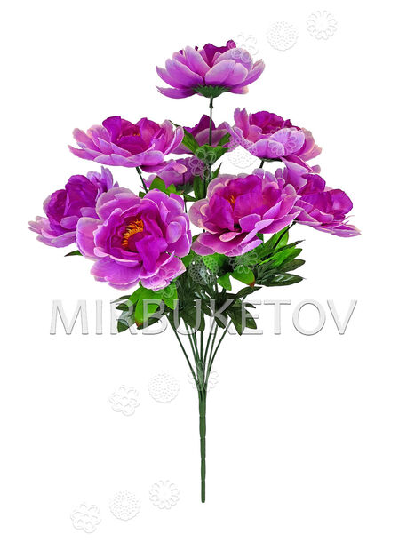 Искусственные цветы Букет Пионов, 9 голов, 600 мм