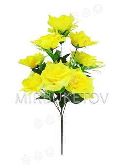 Искусственные цветы Букет Розы, 9 голов, 600 мм