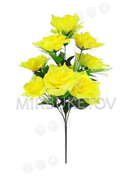 Букет искусственной Розы, 9 голов, 600 мм