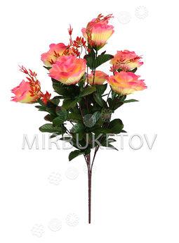 Искусственные цветы Букет Роза VIP, 7 голов, 600 мм