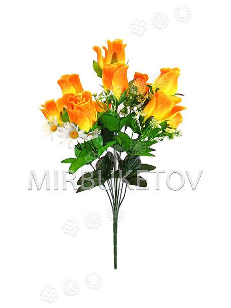 Искусственные цветы Букет Розы и Ромашек, 10 голов, 490 мм