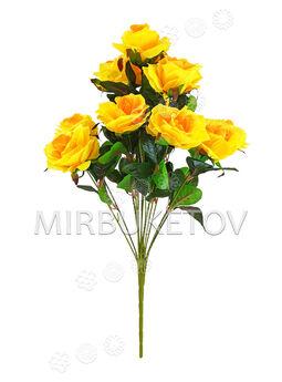 Искусственные цветы Букет Роза, 13 голов, 640 мм