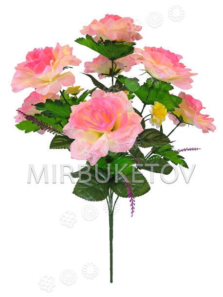 Искусственные цветы Букет Розы, 7 цветков, 660 мм