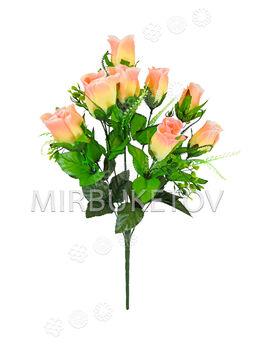Искусственные цветы Букет Розы, 9 голов, 550 мм