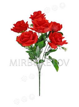 Искусственные цветы Букет Розы, 7 голов, 550 мм