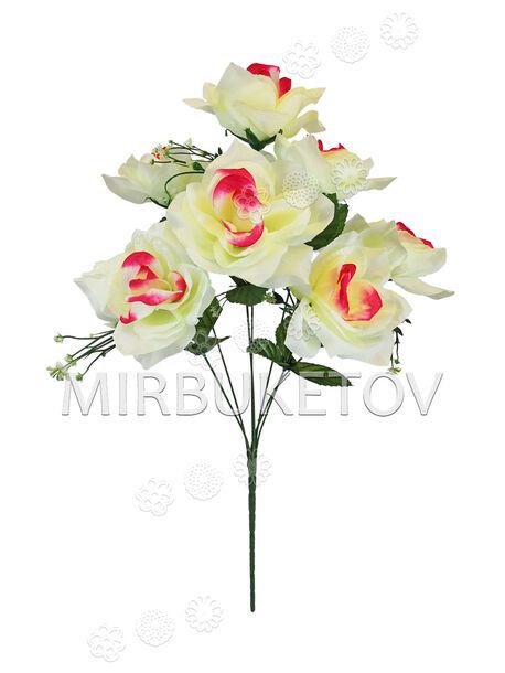 Искусственные цветы Букет Розы, 7 голов, 560 мм