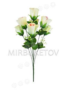 Искусственные цветы Букет Розы, 7 голов, 580 мм