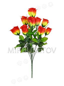 Искусственные цветы Букет Розы, 11 голов, 570 мм
