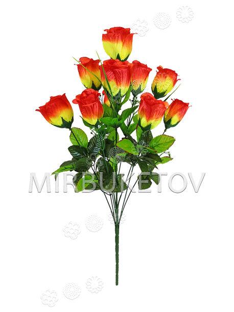 Букет искусственных цветов Розы, 11 голов, 570 мм