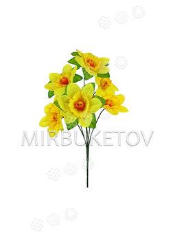Букет искусственных цветов Нарцисса, 6 голов, 360 мм