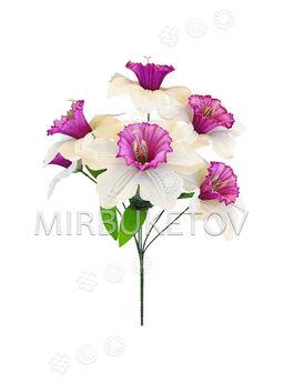 Искусственные цветы Букет Нарцисса, 6 голов, 460 мм