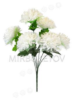 Искусственные цветы Букет Георгины с фатином, 6 голов, 600 мм
