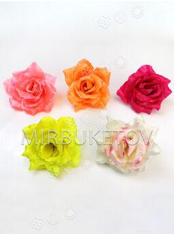 Искусственные цветы Розы, атлас, 8 расцветок, 110 мм