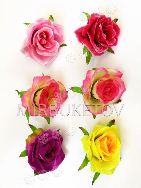 Искусственные цветы Розы, шелк, 8 расцветок, 100 мм