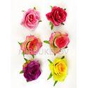 Искусственные цветы Розы с листом, шелк, 8 расцветок, 100 мм