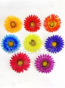 Искусственные цветы Герберы, шелк, микс, 130 мм
