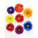 Искусственные цветы Герберы, атлас, микс, 120 мм