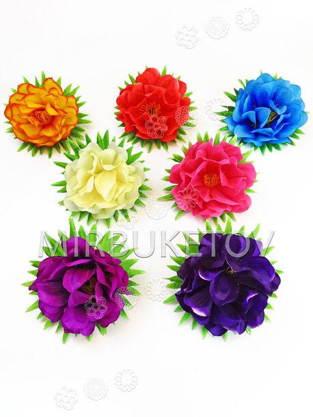 Искусственные цветы Георгина, шелк, микс, 100 мм