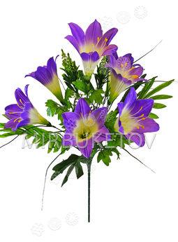 Искусственные цветы Букет Лилии, 11 веток, 600 мм
