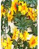 Искусственные цветы Цепь Хризантема с листьями, 270 см