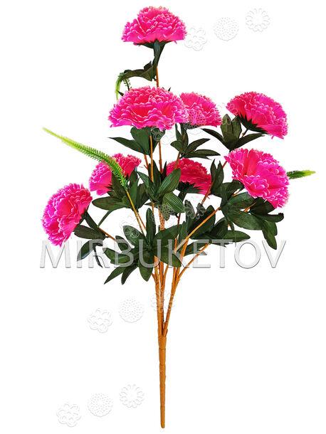 Искусственные цветы Букет Гвоздики VIP, 11 веток, микс, 770 мм