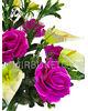 Искусственные цветы Букет Розы и Антуриума, 13 голов, 560 мм